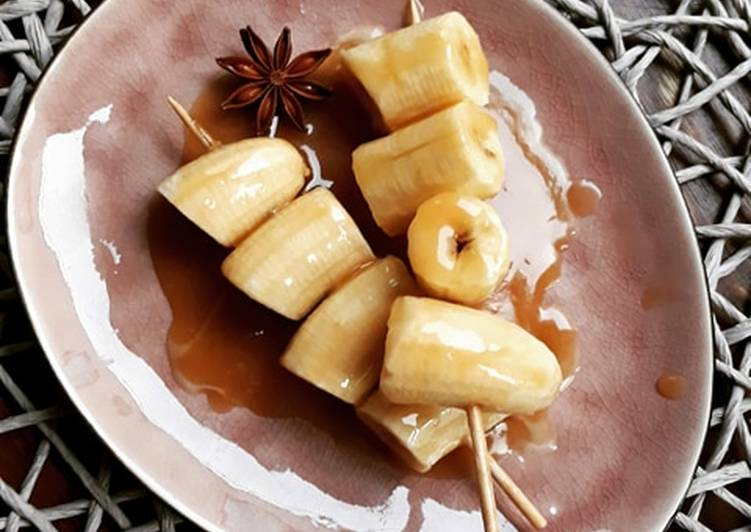 ☆Brochette de Bananes Caramélisées aux Épices Douces☆