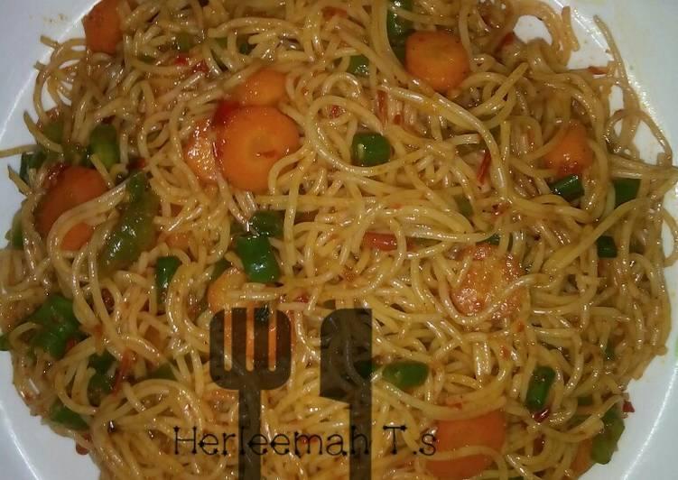 Stir fry spagetti