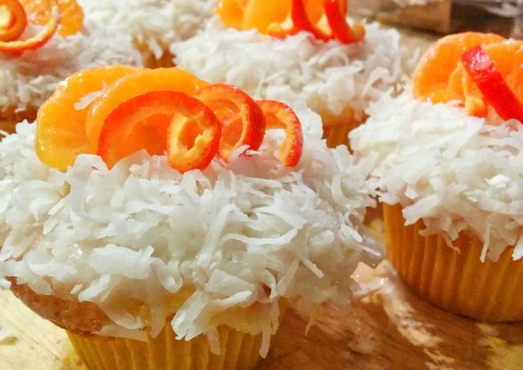 Tangerine dream cupcakes