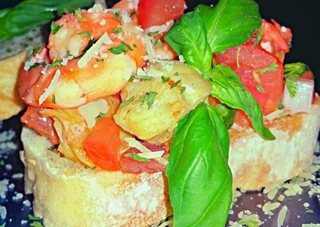 Mike's Shrimp Bruschetta