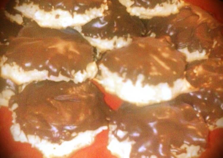 Coconut Macaroon Cookies (Chocolate Dipped)