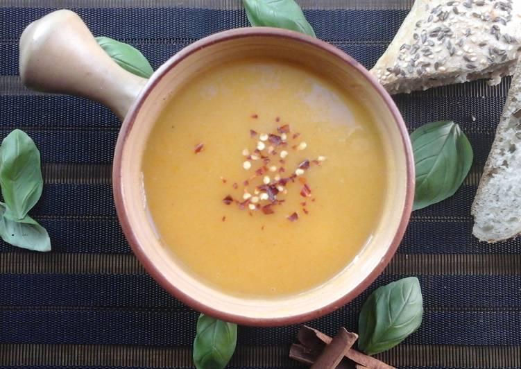 One pot thick sweet potato soup