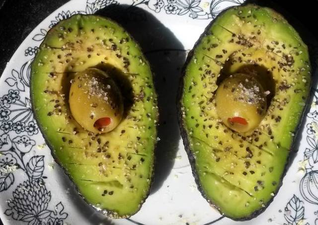 Avocado w/ olive juice