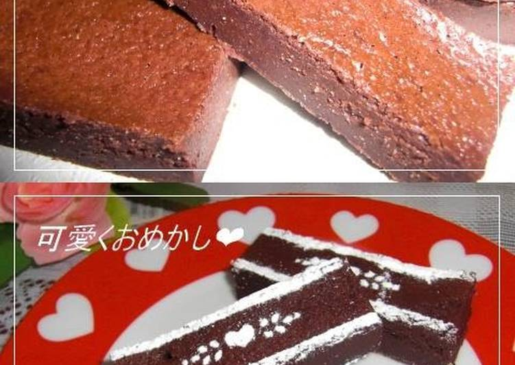 Baked Chocolate Cake for Valentine's Day