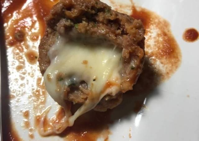 Mozzarella Filled Slow Cooker Meatballs