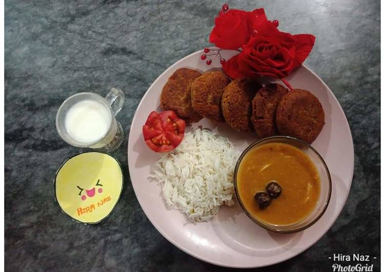 Chicken_Shami_Kabab_With_DAL_RICE