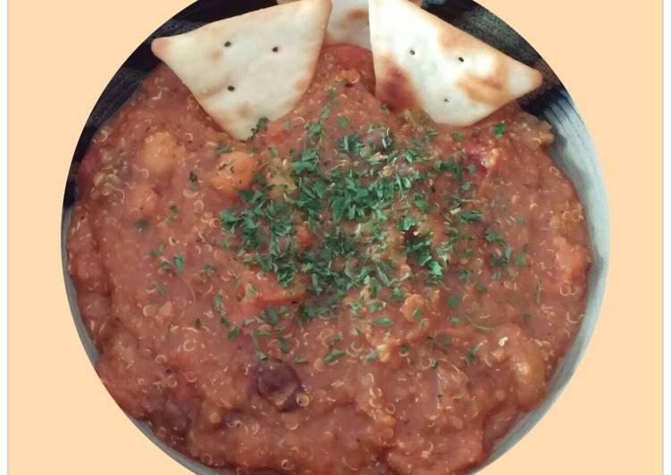 Slow Cooker High Protein High Fiber Vegetarian Chili