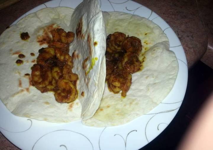 Curry Shrimp Tacos