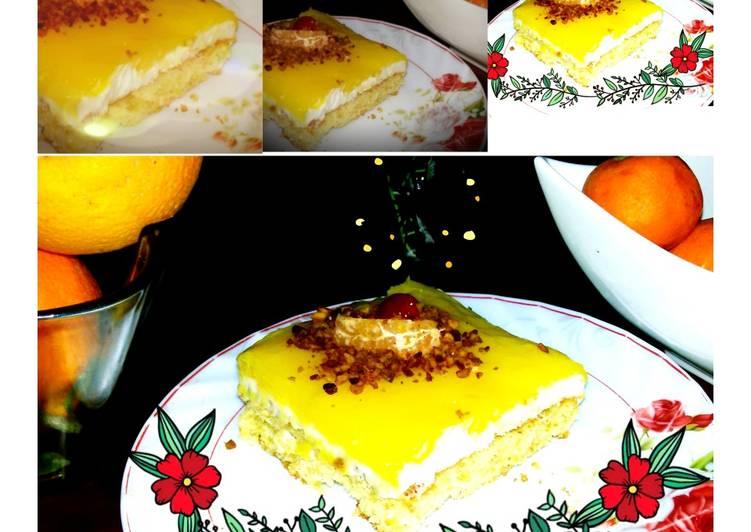 Gâteau l'orange et à la crème à l'orange