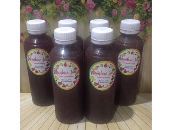 Diet Juice Red Spinach Chiaseed Longan Melon Lime