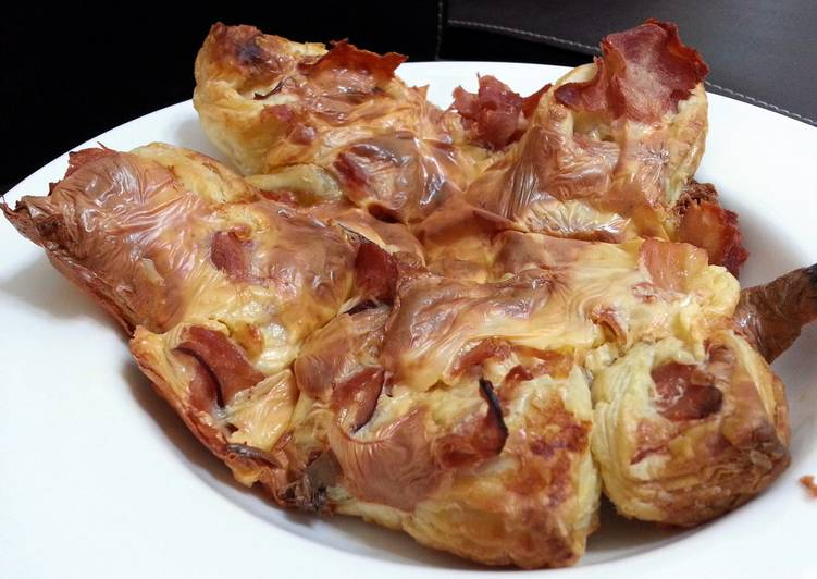 Ham And Cheese Twisted Puff