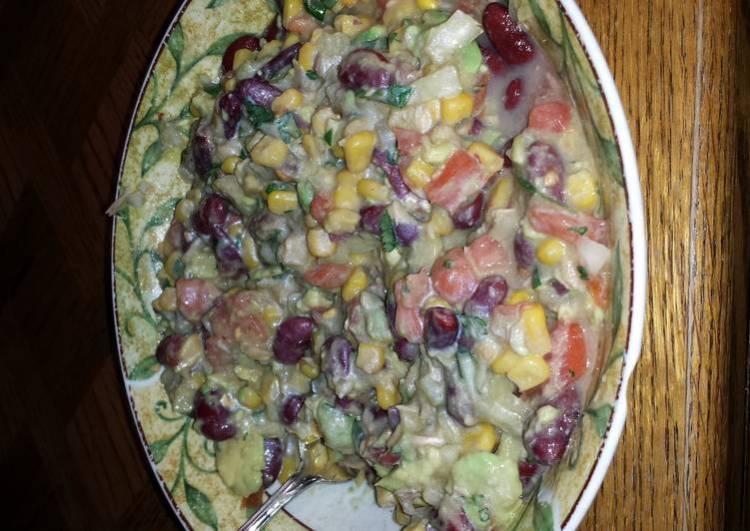 tuna , beans , corn salad