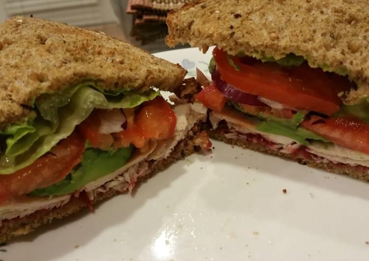 Leftover Turkey Avo Sandwich