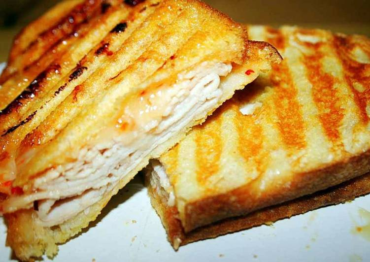 White Cheddar Apple Turkey Panini