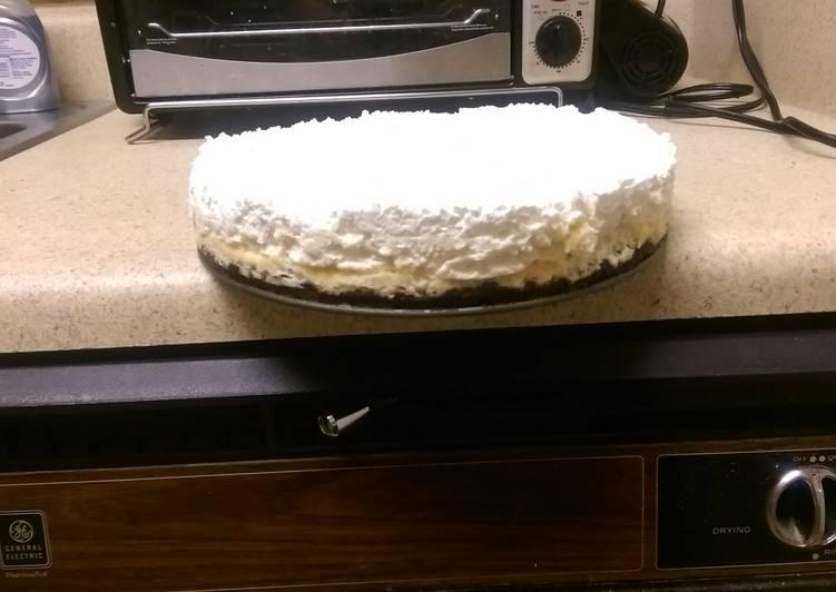 Vanilla bean cheesecake w/ white chocolate mousse.