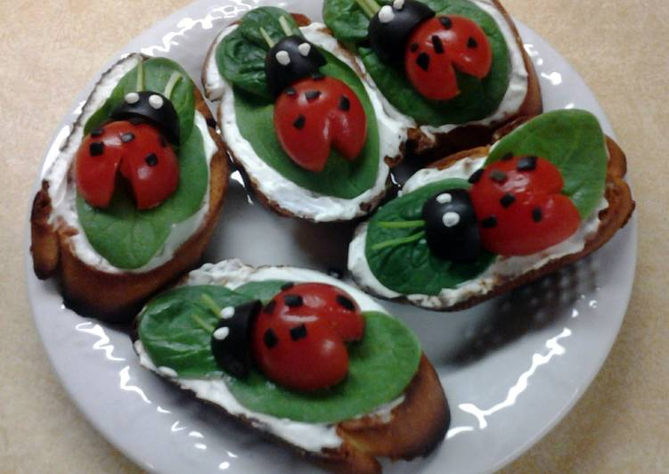 Lady Bug Crostini Snacks