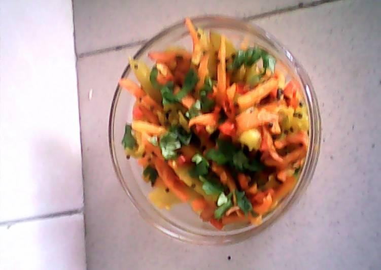 Easy mango n carrot pickle