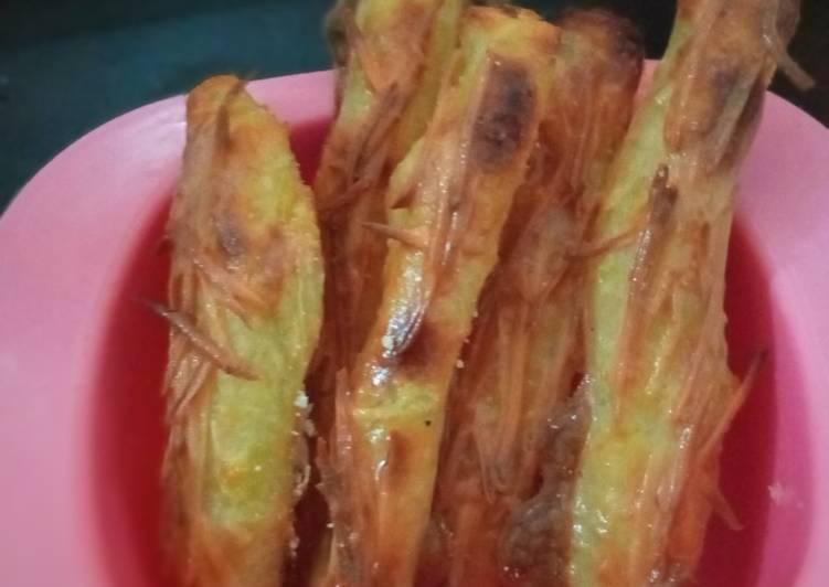 Stik kentang keju panggang
