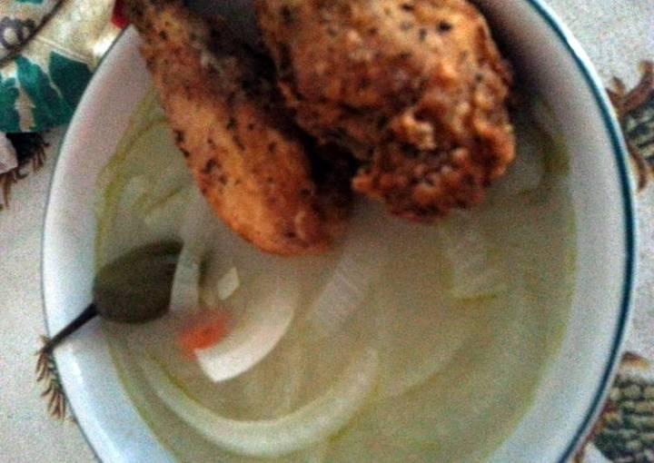 Escabeche (onion soup - Belizean style)