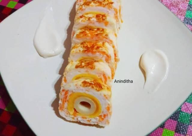 Telur Dadar Gulung chikuwa