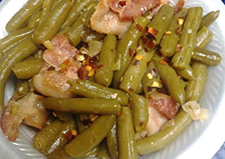 Kickin Green beans