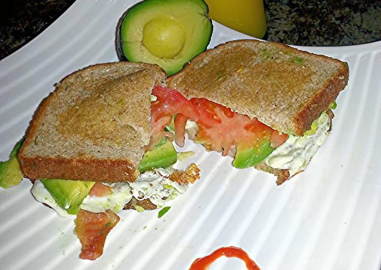 Avocado, Tomato, Mozzarella, & Bacon Sandwich