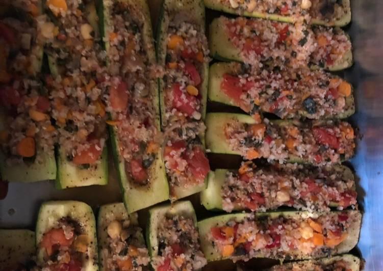 Quinoa Mediterranean vegetable squash