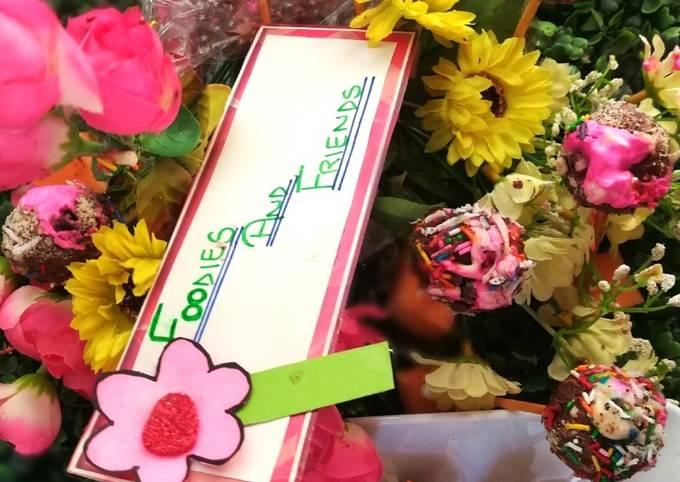 Cake Pops Truffle Bouquet #foodiesandfriends