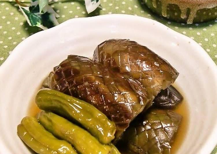 Stewed Eggplants and Shishito Green Peppers