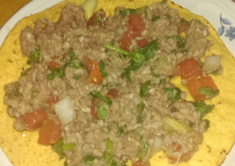 Ground beef ceviche