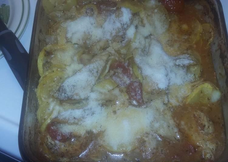 Italian Chicken and veggie bake