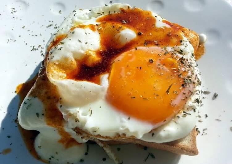 Fried Egg And Yogurt  Sandwich