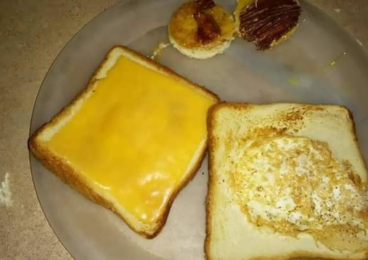 Grilled cheese and egg