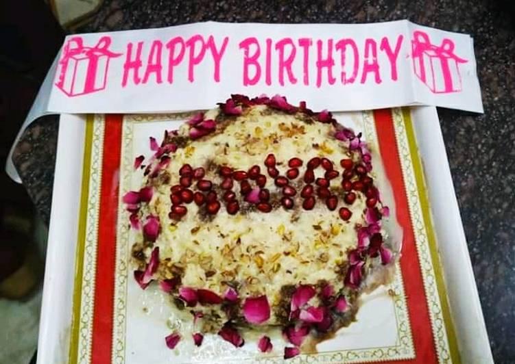 Rabri Rose flavour cake