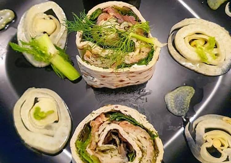 Wraps au Saumon et Fenouil