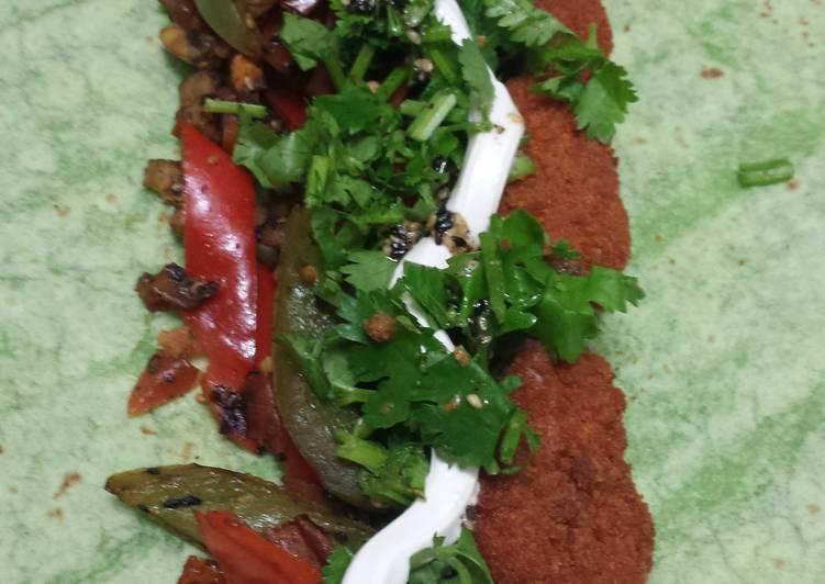 Vegetarian buffalo wings spinach wrap
