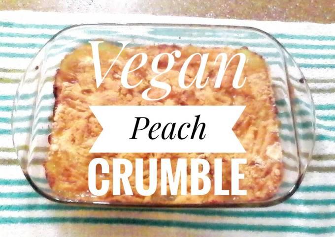 Vegan Peach Crumble 🍑
