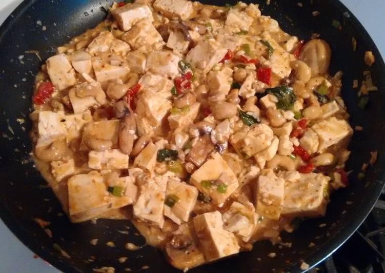 Vegan Thai Peanut Tofu Stir Fry
