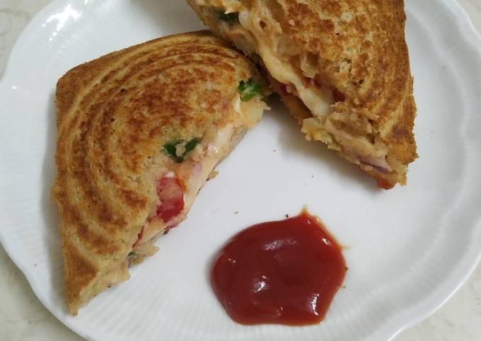 Bombay masala cheese toast