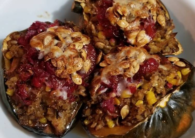 Thanksgiving Leftover Baked Acorn Squash