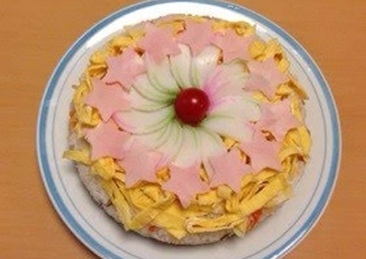 Sushi Cake for Doll's Festival