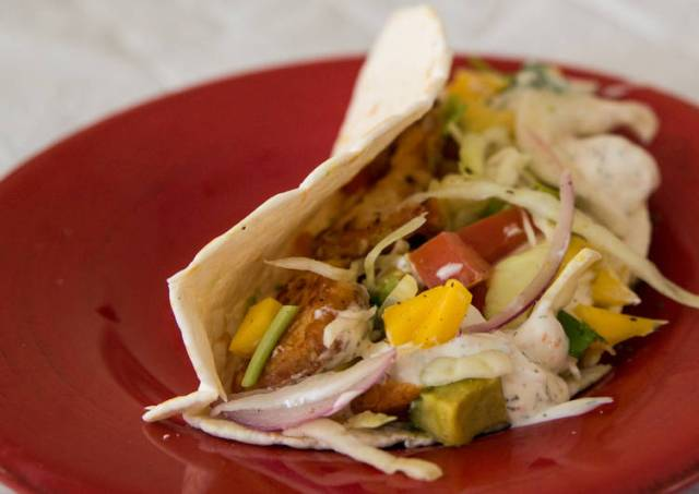 Fish Tacos & Slaw with White Sauce
