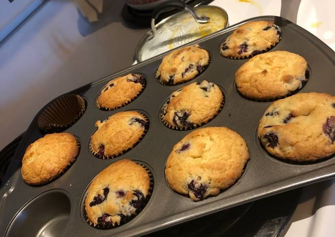 The yummiest blueberry muffins!!!!!!!