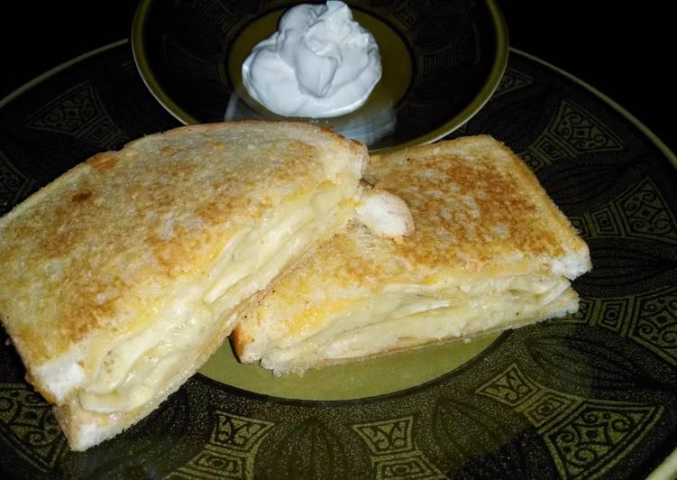 Pierogi Grilled Cheese