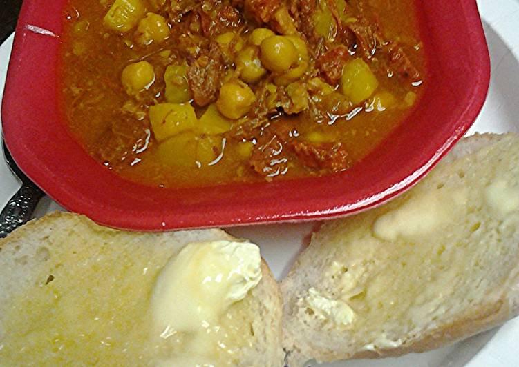 My Mom's Spanish bean soup