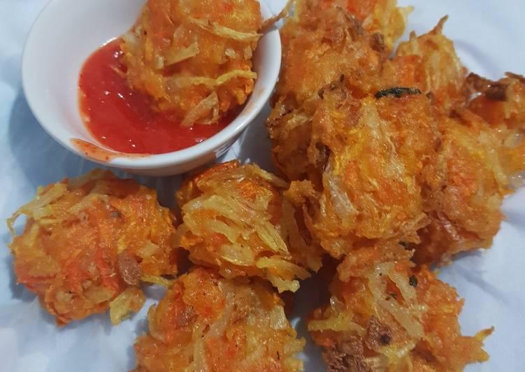 Carrot Fritters (Bakwan wortel)