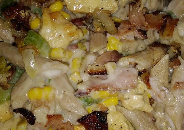 Bacon chicken pasta