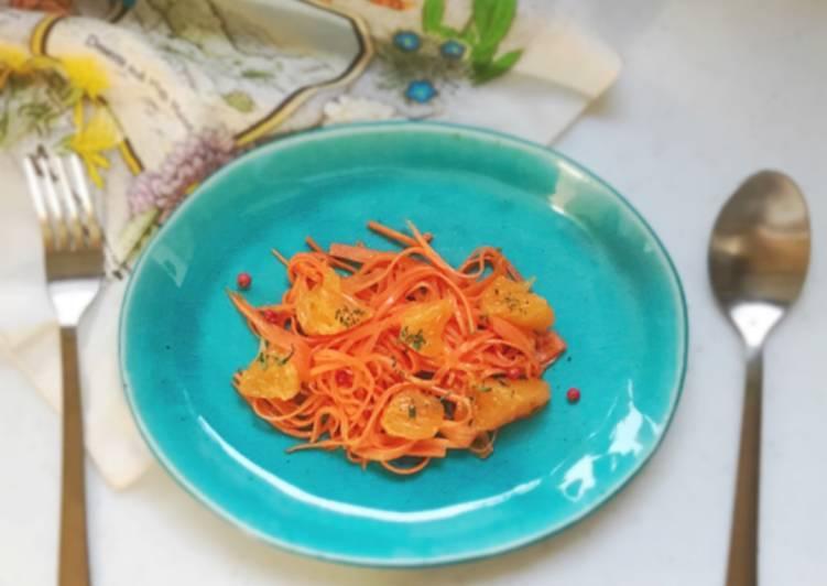 """Carrot and orange """"Amazake"""" salad.Sugar free"""
