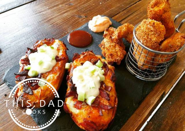 Buttermilk Crispy Chicken Tenders and Perfect Potato Skins