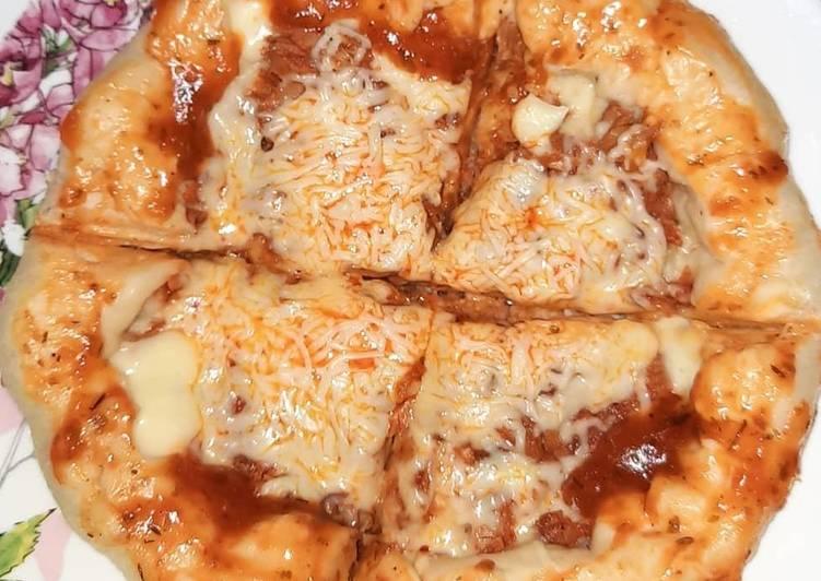 Pizza teflon tuna melt pinggiran keju